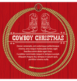 american christmas background with cowboy vector image vector image