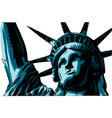 american liberty statue icon vector image vector image