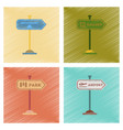 assembly flat shading style icons park street vector image vector image
