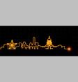 austin light streak skyline vector image vector image