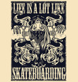 Authentic monochrome style skateboarding poster