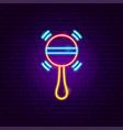 beanbag neon sign vector image vector image