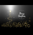 black christmas tree background with bubbles vector image vector image