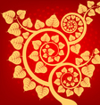 Bodhi tree vector image vector image