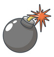 bomb icon cartoon style vector image vector image