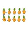 cartoon funny fruits vector image vector image