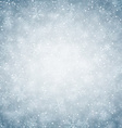 Christmas background with fallen snowflakes vector image vector image