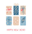 christmas greeting card with gifts on white vector image