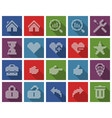 collection square dotted icons user interface vector image vector image