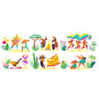 dancers in traditional costumes different vector image