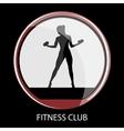 fitness club black icon vector image vector image
