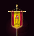 flag of spain festive vertical banner wall vector image vector image