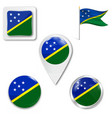 flag solomon islands over white background vector image vector image
