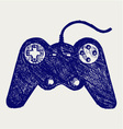 Gamepad joystick game controller vector image vector image