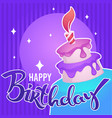 glossy and shine birthday card template vector image