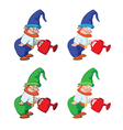 gnome gardener vector image vector image