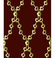 Gold chain pattern7 vector image vector image