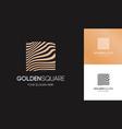 golden linear logo square shape vector image vector image