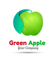 Green apple logo design Template for your vector image