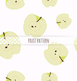 Hand drawn apples Seamless pattern vector image