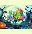 happy halloween 3d background vector image vector image