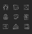 home textile products chalk white icons set vector image vector image