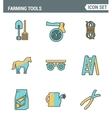 Icons line set premium quality of farming tools vector image