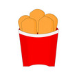 isolated tasty chicken nuggets icon vector image vector image