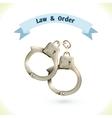 Law icon handcuffs vector image