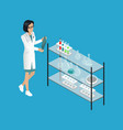 medical worker doctor in lab vector image vector image