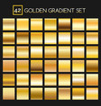 metal golden gradients collection vector image vector image