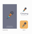 microphone company logo app icon and splash page vector image vector image