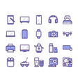 modern gadgets color linear icons set vector image vector image