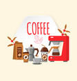 modern icons for coffee shop and coffee house vector image vector image