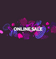 modern online sale poster different shapes in vector image vector image