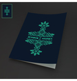 Notebook Cover Template Line Art Design vector image vector image