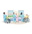 nursing home vector image vector image