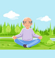 old man grandfather outdoor park nature fitness vector image