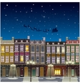 Old street Christmas background at night vector image vector image