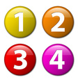 One two three four - badges with numbers vector image vector image