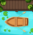 Park and boat vector image vector image