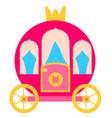pink princess carriage vector image vector image