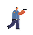 police officer standing with pistol policeman vector image vector image