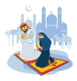 Praying Muslim Concept vector image
