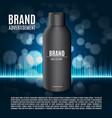 premium shampoo ads vector image vector image