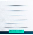 realistic paper shadows effect collection vector image vector image