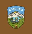 road trip logo camping adventure emblem design vector image vector image