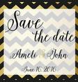 save the date invitation chevron zic zac design vector image