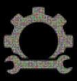 service tools halftone mosaic of dots vector image vector image