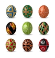 Set of color Easter eggs vector image vector image